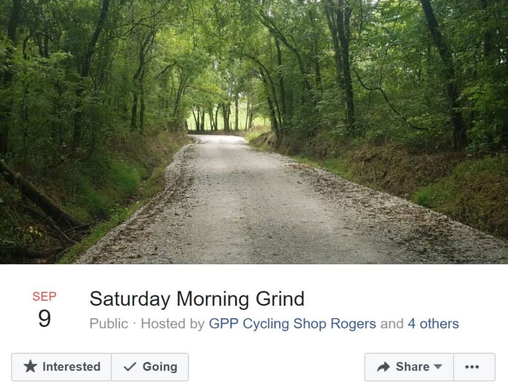 Weekend Ride Notification 9/8 - Ozark Cycling Adventures, Cycling news and Routes in Northwest Arkansas