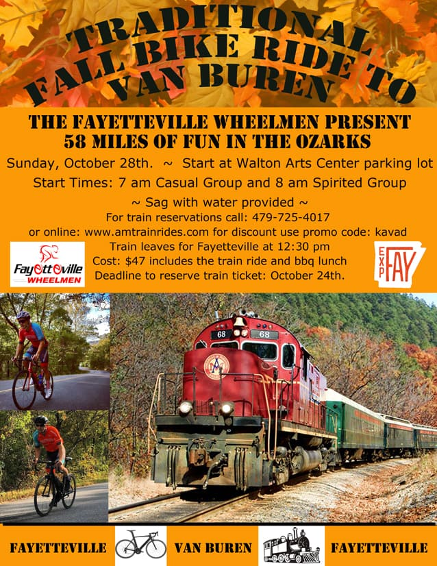 Weekend Ride Notification 10/26 | NWA Cycling News - Ozark Cycling Adventures, Cycling news and Routes in Northwest Arkansas NWA