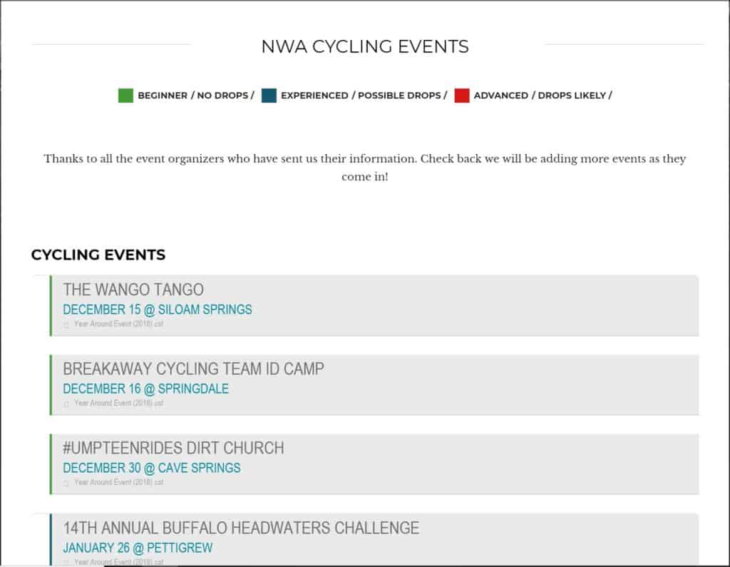 Weekend Ride Notification 12/14   NWA Cycling News - Ozark Cycling Adventures, Cycling news and Routes in Northwest Arkansas NWA