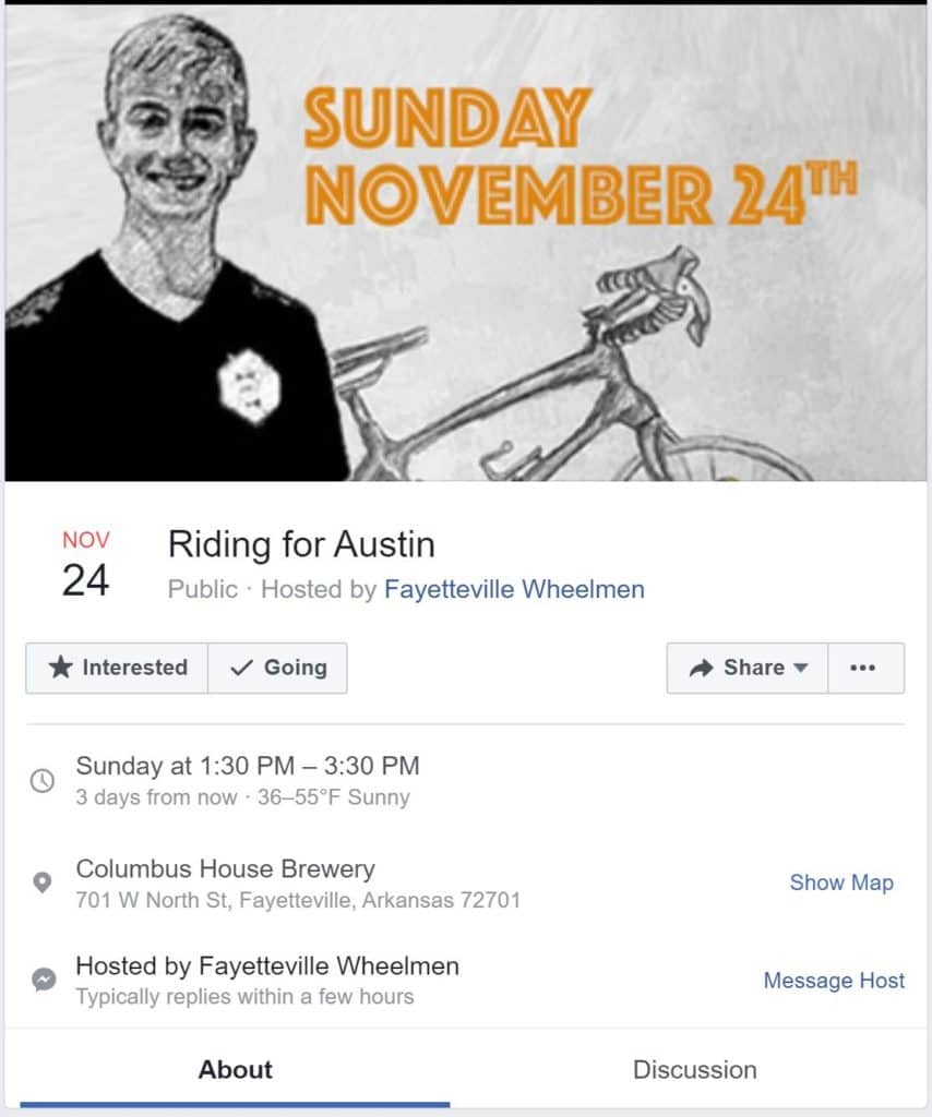 Weekend Ride Notification 11/22 | NWA Cycling News - Ozark Cycling Adventures, Cycling news and Routes in Northwest Arkansas NWA